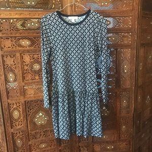 Navy Layered Dress